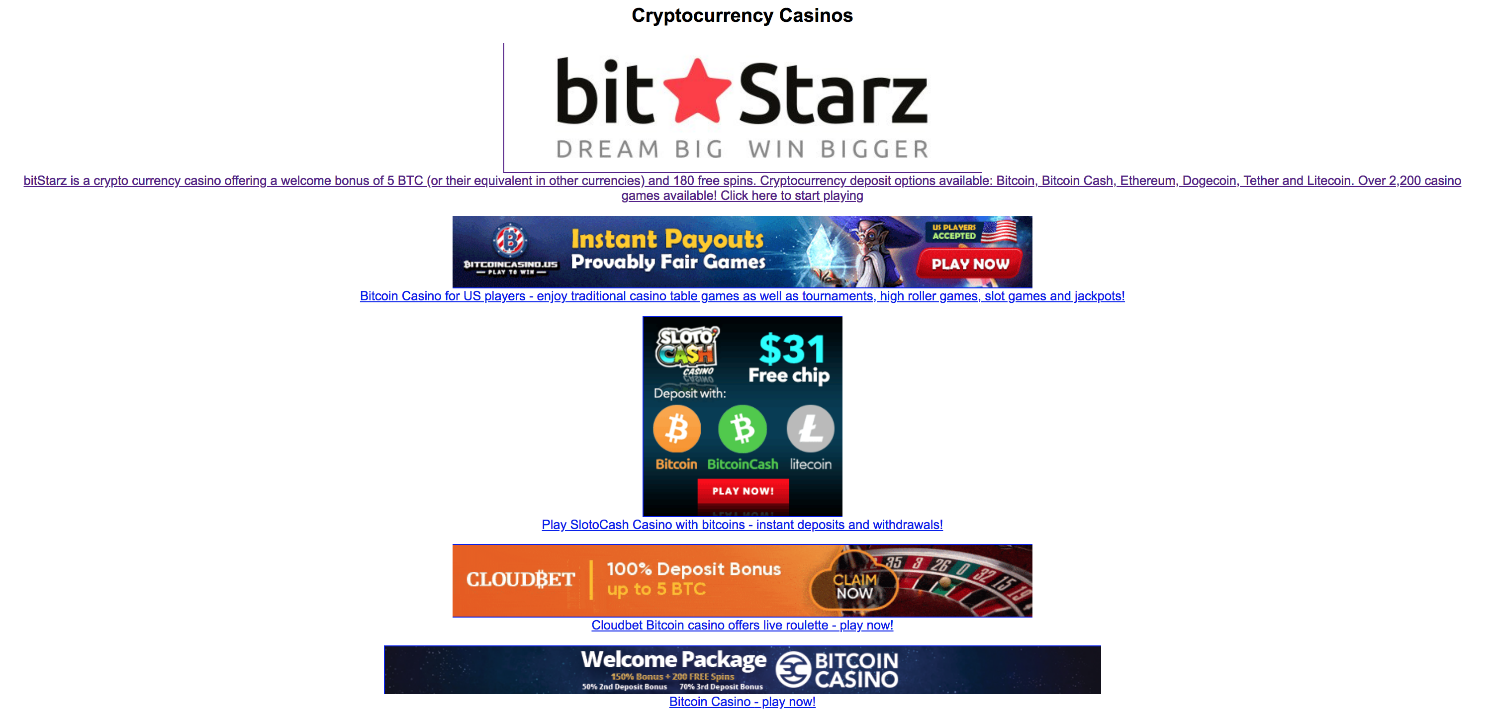 Fast payout online casino bitcoin